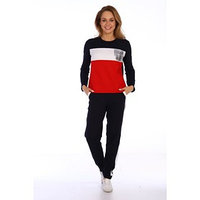 Костюм женский (джемпер, брюки), цвет красный, размер 50
