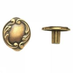 Ручка-кнопка, 'Baroque' 30x25x18мм, золото Валенсия., винт,