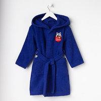 Халат махровый детский 'Енотик', цвет синий, размер 30