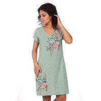 Платье женское 'Лилия', цвет пудрово-зелёный меланж, размер 52