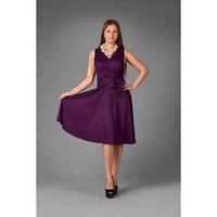 Платье женское, цвет баклажановый, размер 48