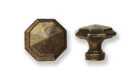 Ручка-кнопка, *Louis XVI* D38мм, латунь пат., винт