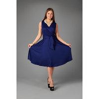 Платье женское, цвет тёмно-синий микс, размер 52
