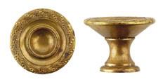 Ручка-кнопка, *Louis XVI* D35мм, латунь пат., винт