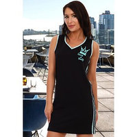 Платье женское, цвет чёрный/ментоловый, размер 44