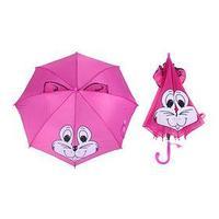 Зонт детский полуавтоматический 'Белочка', со свистком и ушками, r37,5см, цвет розовый