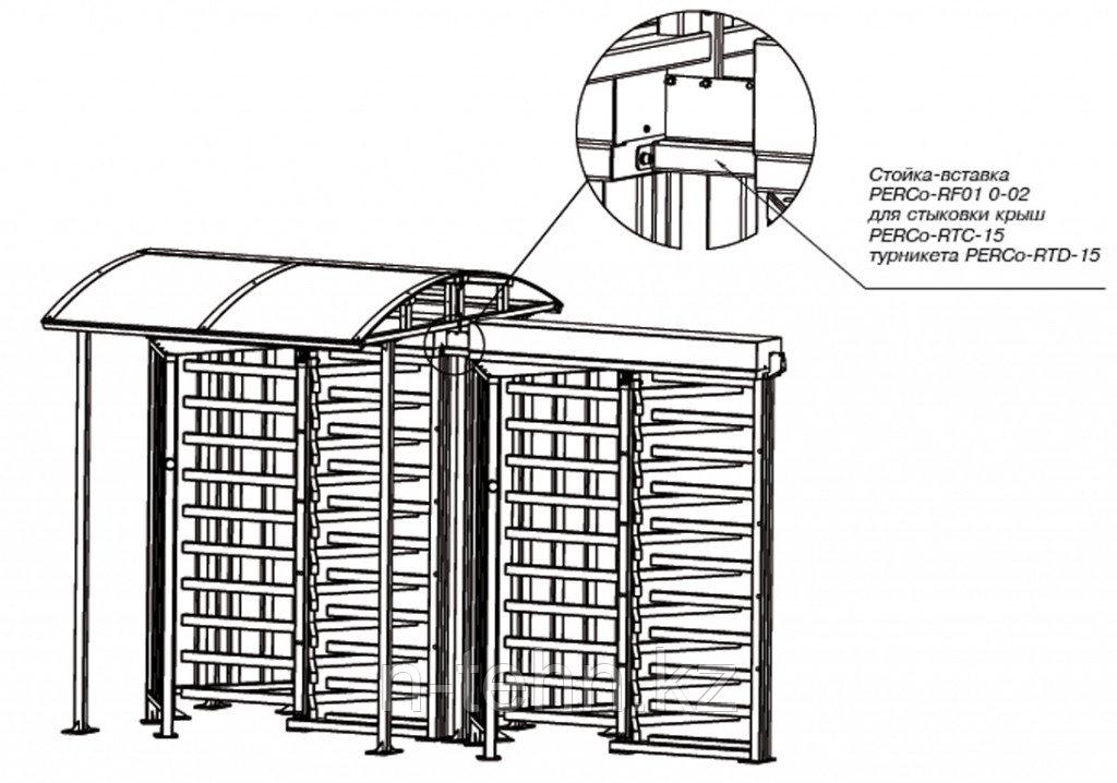 PERCo-RF01 0-02 Стойка-вставка для заполнения проема между турникетами PERCo-RTD-15