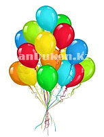 Воздушные шарики  разноцветные 100 штук, Happy word