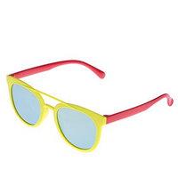 Очки солнцезащитные детские 'Авиаторы', оправа и дужки дву x цветные, МИКС, 13 x 12.5 x 4.5 см