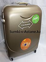 Большой пластиковый дорожный чемодан на 4-х колесах.Высота 74 см,ширина 47 см, глубина 27 см., фото 1