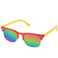 Очки солнцезащитные детские 'Round', оправа и дужки разного цвета, МИКС, 12.5 x 4.5 см