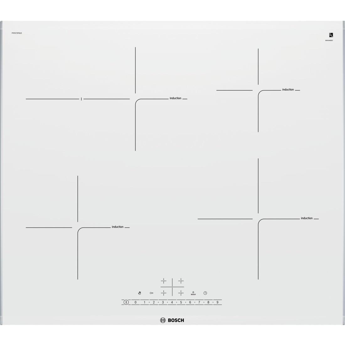 Варочная поверхность индукционная  Bosch PIF 672 FB1E белая