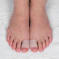 Защитные чехлы на пальцы ног, силиконовые, 3 x 2,5 см, пара, цвет белый (комплект из 2 шт.)