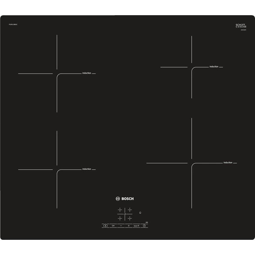 Bosch PUE 611 FB1E варочная поверхность индукционная черная