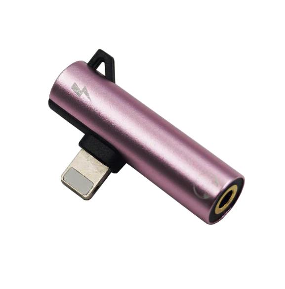Переходник 2 в 1 для Iphone (зарядка + наушники) Lightning to 3.5 mm Headphone jack + Charger, модель AU04 - фото 3