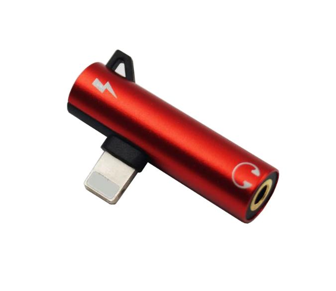 Переходник 2 в 1 для Iphone (зарядка + наушники) Lightning to 3.5 mm Headphone jack + Charger, модель AU04 - фото 4
