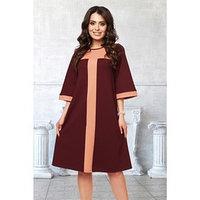 Платье 'Барбара бордо', размер 48