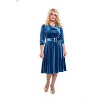 Платье женское, бархатное, размер 56