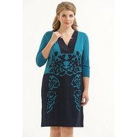 Платье женское, с V-образным вырезом, размер 48