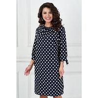 Платье 'Болоньета блу пеас', размер 56