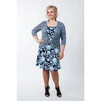 Платье-обманка женское, размер 52
