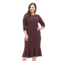 Платье женское, размер 52, цвет бордовый