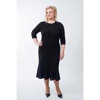 Платье женское, размер 58, цвет чёрный