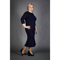 Платье женское, размер 58, цвет синий