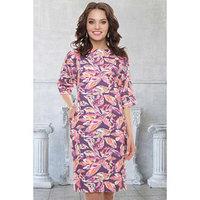 Платье 'Дзои виолато' цвет лиловый, оранжевый, размер 48