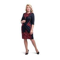 Платье женское, размер 58, цвет чёрный, красный