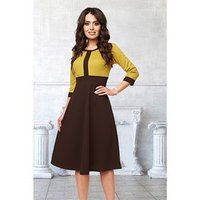 Платье 'Моника оливе' цвет коричневый, оливковый размер 56