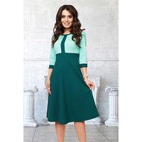 Платье 'Моника эмералд' цвет зеленый, мятный размер 52