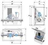 Термошкафы стеклопластиковые РизурБокс-С (RizurBox-C) диагонального раскрытия с поддоном, фото 3