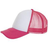 Бейсболка BUBBLE, цвет розовый неон, белый