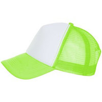Бейсболка BUBBLE, цвет зелёный неон, белый