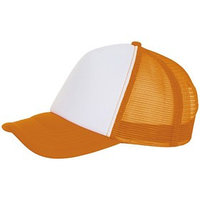 Бейсболка BUBBLE, цвет оранжевый неон, белый