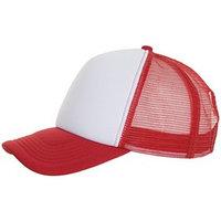 Бейсболка BUBBLE, цвет красный, белый