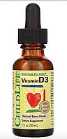 Витамин D3, вкус натуральных ягод, 30 мл (1 жидк. унция) от ChildLife