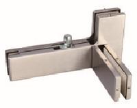 Фитинг угловой левый с осью и ребром жесткости,для стекла 10-12 мм Левый,Цвет матовый нержавеющая сталь,SS304