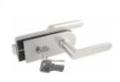 Замок с нажимной ручкой,комплект цилиндр/ключ, нержавейка SS316,Матовая