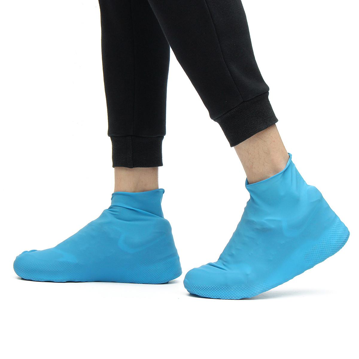 Резиновые бахилы на обувь от дождя, размер S