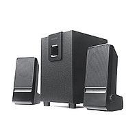 Акустическая система, Microlab, M100 (MKII) 2.1, 10Вт(2,5Вт *2+5Вт), Вход 3,5 MiniJack, Выход RCA, Чёрный