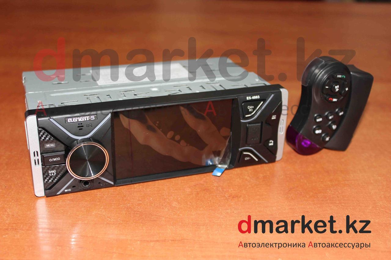 Автомагнитола 1DIN Element-5 4003, экран 4 дюйма, радио, USB, MP3, AUX, камера