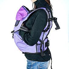 Рюкзак-кенгуру для переноски детей коричневый, фото 3