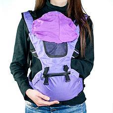 Рюкзак-кенгуру для переноски детей коричневый, фото 2