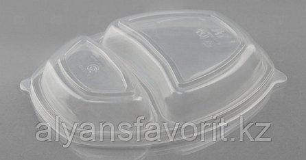 Ланч-бокс СПК-257 2-х секционный, черный ,257х200х37 мм., фото 2