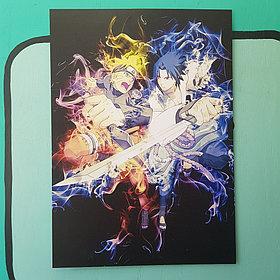 Постер Наруто и Саске