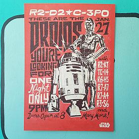 Постер C-3PO, R2-D2 - Звёздные войны