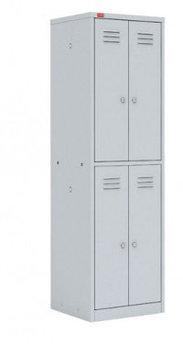 ШРМ - 24 Двухсекционный металлический шкаф для одежды