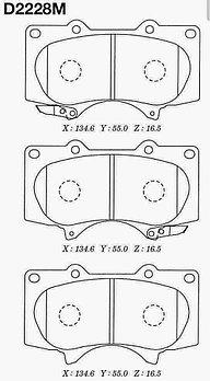 Тормозные колодки Toyota SP2033 Prado #J12#; 4Runner #N21# 2002-2007 передние